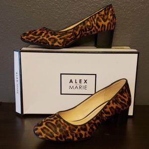 Alex Marie leopard heels NIB